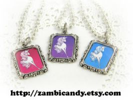 Pretty unicorn necklaces by zambicandy