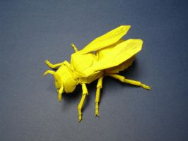 Origami Yellow Jacket by origami-artist-galen