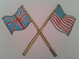crossed flags by emmawhit