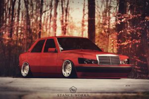Stanced Mercedes Benz 190E by Sk1zzo