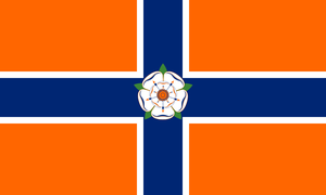 Proposal for a new flag of New York State by Marmocet