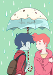 RAIN and UMBRELLA by minatan-minamo