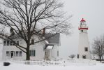 Marblehead Lighthouse in Winter by rick-tsgi