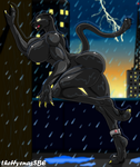 Black panther in the city by theHyenasSBE
