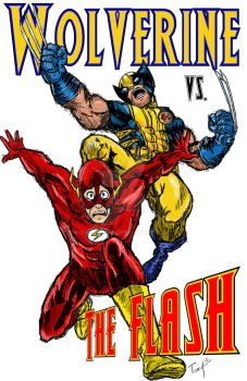 Wolverine vs. The Flash by ToneDawg
