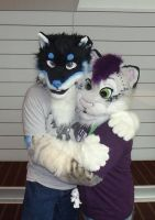 Anthrocon 2012 - Blizzie and Amp by IceCatDemon