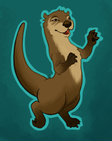 Outlined otter by Alisha-town