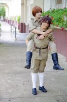 Axis Powe Hetalia - Spain and S. Italy by Pandora-Hazel