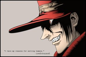 Hellsing - Arucard Color by draguh