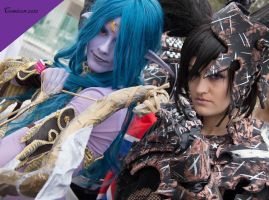 Insane Black Rock Shooter and WOW by Elektra86