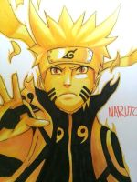 Naruto Uzumaki: Nine-Tails Chakra Mode Level 2 by monmilo9