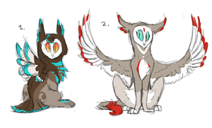 Owl Creature Designs :Closed: by DaPuddingz