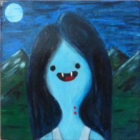 Wee Bitty Marceline Painting by olafthemediocre