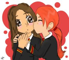 Cute Hermione and Ginny by SmileWhenDead