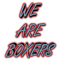 We Are Boxers 600x600 Red Glow by f0xy0k