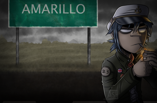 Amarillo - Gorillaz by Ashesfordayz