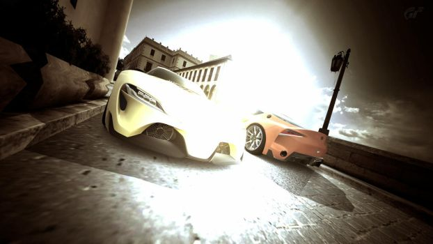 Twin illumination at Ronda (Toyota FT-1 concept) by girabyte225-jc-lover