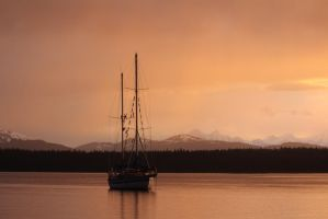 Sailing in Alaskan Waters by athenaowl1999