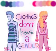 Clothes Don't Have a Gender by AcousticRose138