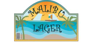 Malibu Lager beer label by Stacey1mb
