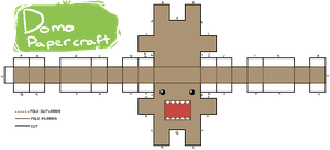 Domo Papercraft Pattern Thing by JAYWlNG