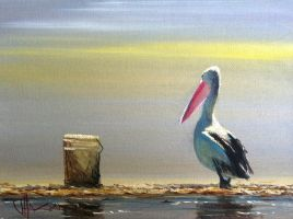 Coastal Oil Painting- 'Now's My Chance!' by jo-hagan