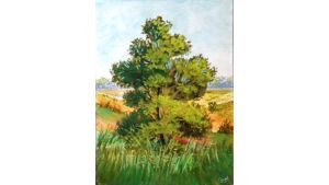 A tree in the velley by DrawingStack