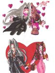 FF7: Sephiroth and Aeris Commission by d13mon-studios