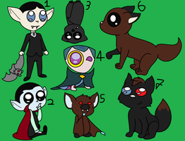 Adoptables 01. Vampires - 2/7 (No. 3 and 6) OPEN by Strudel--Cutie4427