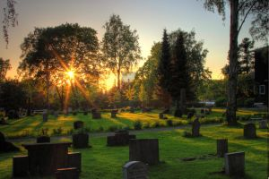 Cemetery in sunset 2 by mariusjellum