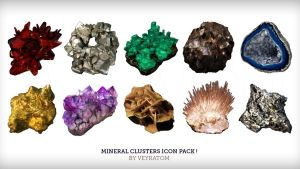 MineralClustersIcons by Zairaam