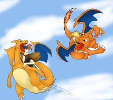 Keith and Ami's Charizards by Martyrius
