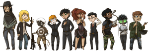 WEST - Chibi Lineup by oakworks