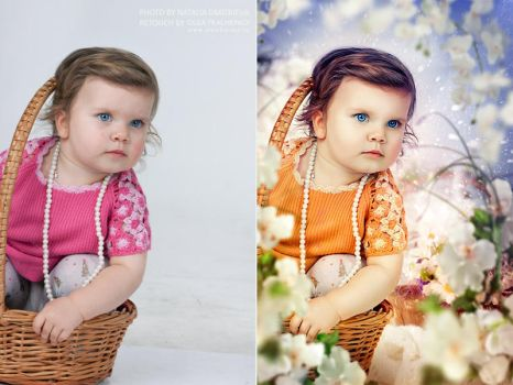 Portrait retouch 2. Befor and after. by ChudnayaMamba