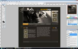 Personal Page - layout grey by Bartas1503