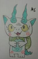 Kuroi Yo-Kai Watch (Komasan) by ENDORE050