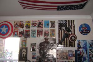 Captain America Wall. by The-End-Inc