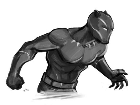 Black Panther Sketch by Mro16