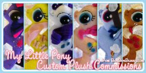My Little Pony Custom Plushes by Bon-Bon-Bunny