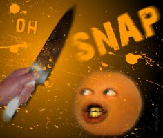'Oh Snap' The Annoying Orange by killermonkey9000