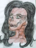 Skeleton Lady Face by UnjustToMe