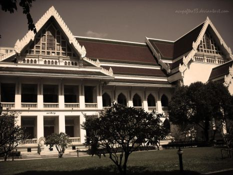 a view in Chulalongkorn by acupoftea13
