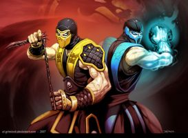 Scorpion y Sub-Zero by Vanni01
