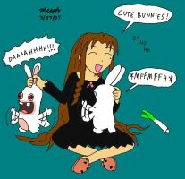 Chizuru and the Rabbids 2 by pheeph
