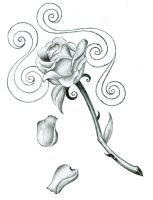 rose tattoo design by BakerZero417
