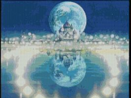 Moon Castle Day Scrnsht Mosaic by smallrinilady