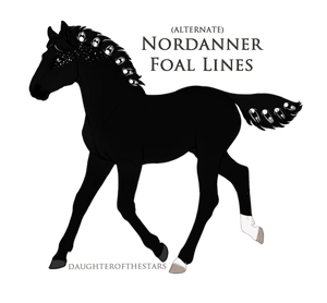A2091 Nordanner Foal Design by pony-bones