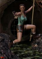 Lara Escapes by sodacan