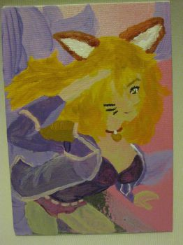 Popstar Ahri Acrylic Painting by LightPhyre