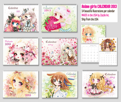 Cute anime chibi girls 2013 Calendars by tho-be
